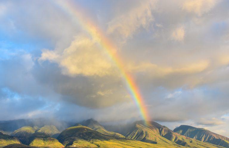 Ein Regenbogen ist reinste Energie im Fluss, so wie die Kraft der Regeneration und Verjüngerung. Alles ist ein ständiger Fluss der uns berührt und wandelt.